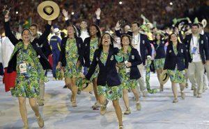 A festa dos nossos atletas no Desfile de Abertura das Olímpiadas do Rio 2016