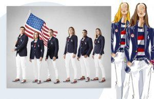 Apresentação e croquis dos uniformes olímpicos norte americano assinados por Polo Ralph Lauren