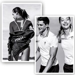 Os modelos Pietro Boselli e Penny Lane em editorial de apresentação da coleção