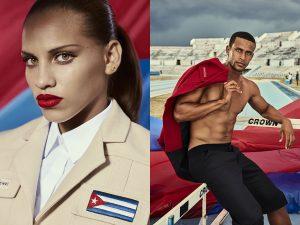 Uniformes de Cuba bandeira no bolso