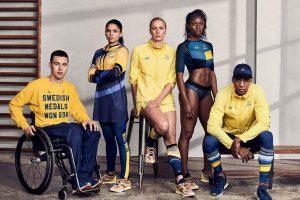 Uniformes suecos social e esportivo assinados pela H&M.