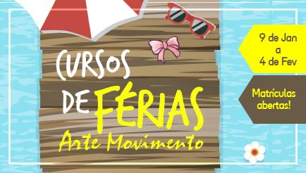 CURSO DE FÉRIAS NA ARTE MOVIMENTO!!!