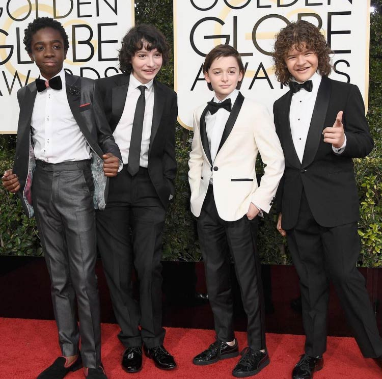 "Os menino de ""Stranger Things""- super modernos."