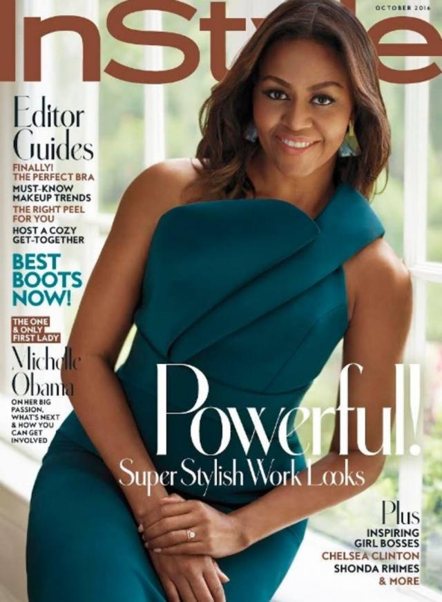 Michelle Obama no ensaio de capa da InStyle americana. Foto: Reprodução/Twitter
