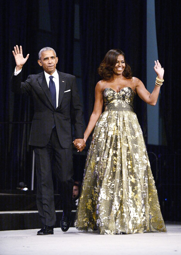Em 2016,Michelle brilha de tomara-que-caia de Naeem Khan (Foto: Getty Images)