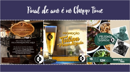 FINAL DE ANO É NO CHOPP TIME